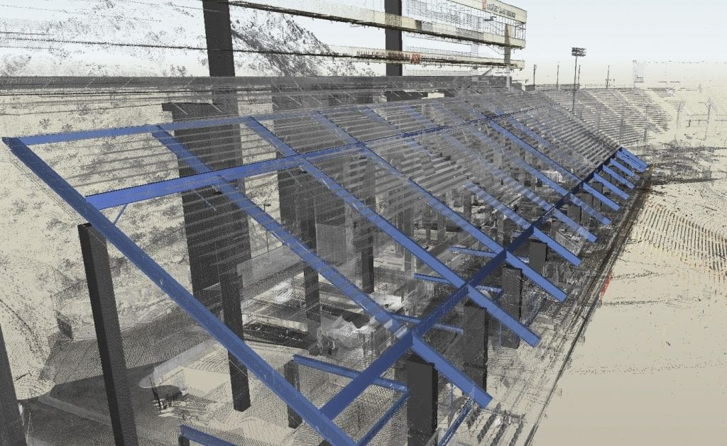 3d scan of ASU stadium