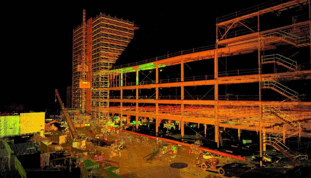 3d scan of a construction site