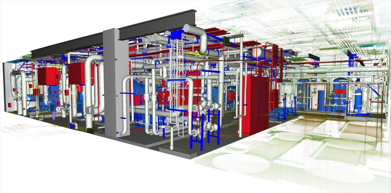 3d scan of a mechanical room