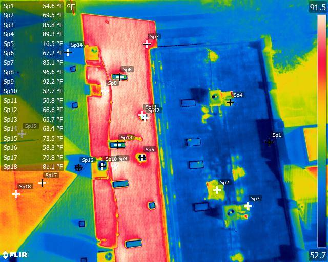 thermal image of the Gadabouts headquarters