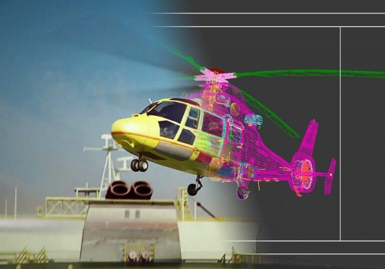 3d scan of a helicopter