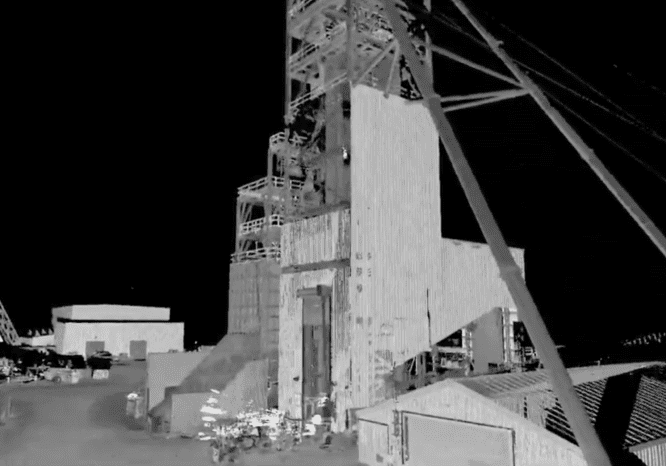 3d scan of surface level mining equipment